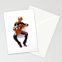 Hot Dude Reading Stationery Cards