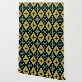 Mid Century Modern Atomic Triangle Pattern 110 Wallpaper