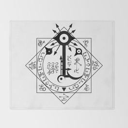 Invisible Sun Symbol on White Throw Blanket