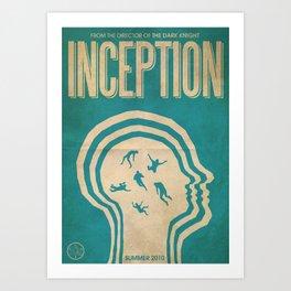 Inception Fan Art Poster Art Print