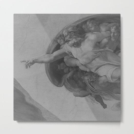 Black White Sistine Chapel Metal Print