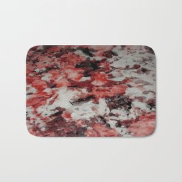The Faces in the Ruby Red Snow Bath Mat