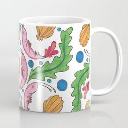 Small shrimp drifting into the sea. Coffee Mug