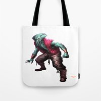 cthulhu Tote Bags featuring CTHULHU by Yoncho Yonchev