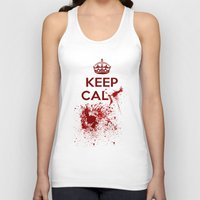 keep calm Tank Tops featuring Keep calm? by Eveline