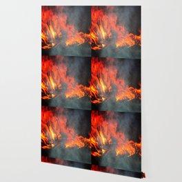 Fire and smoke Wallpaper