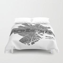 Tokyo Map Duvet Cover