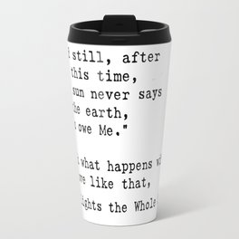 Hafez quote Travel Mug