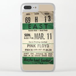 Concert Ticket Stub - Floyd Clear iPhone Case
