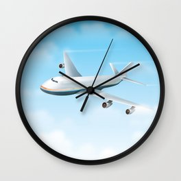 Commercial Airliner Wall Clock