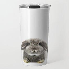 Bunny rabbit sitting Travel Mug