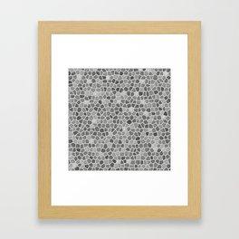 Faux Mosaic in light grays Framed Art Print