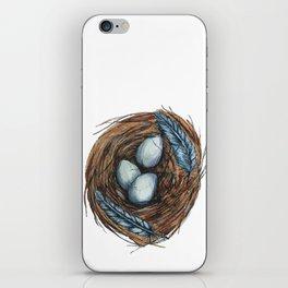 Blue Bird Nest iPhone Skin