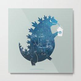 Godzillatte Metal Print
