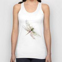 dragonfly Tank Tops featuring dragonfly by tatiana-teni
