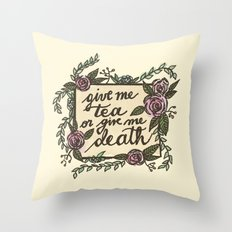 Tea or Death Throw Pillow