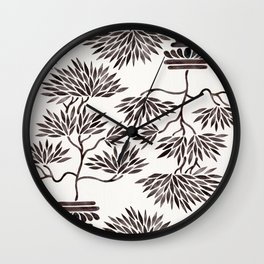 Bonsai Tree – Black Palette Wall Clock