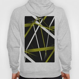 Seamless Olive Green and White Stripes on A Black Background Hoody