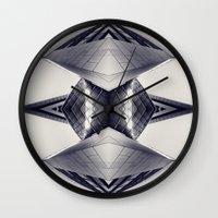 transformer Wall Clocks featuring tRansformeR by Dirk Wuestenhagen Imagery