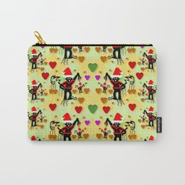 Santa with friends and season love Carry-All Pouch
