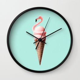 FLAMINGO CONE Wall Clock