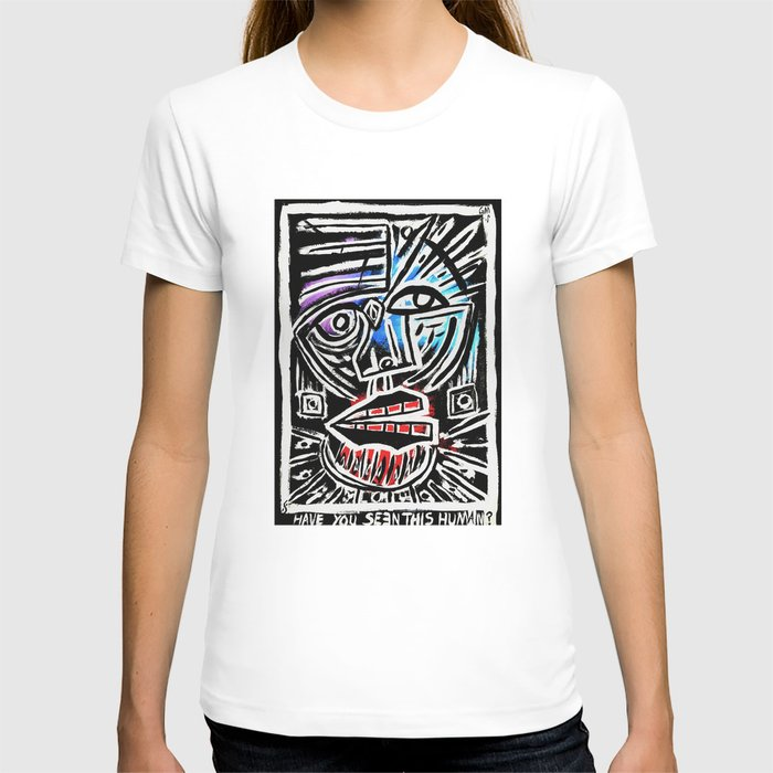 """""""Excuse me?"""" Abstract Face Painting T-shirt"""