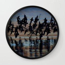 Sandpipers at Dusk Wall Clock