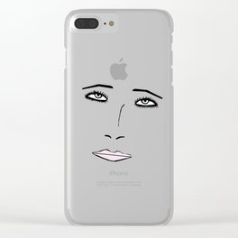 EYES & LIPS Clear iPhone Case