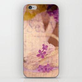 Nostalgic Lilac flower Vintage style iPhone Skin