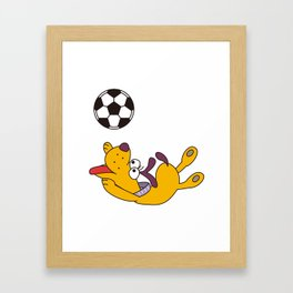 Dog playing with ball Framed Art Print