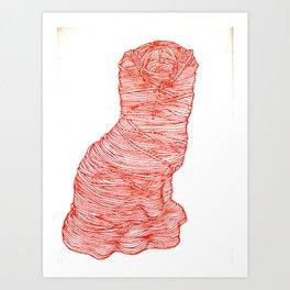 Wally Dug Art Print