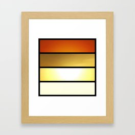 Grid #4 (Layered Rise, Black) Framed Art Print
