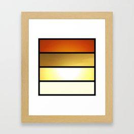 Grid #4 (Layered Rise, Black) Framed Art Print