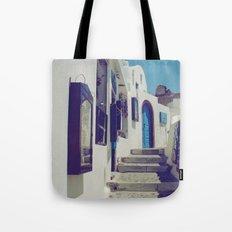 Santorini Walkway V Tote Bag