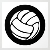 volleyball Art Prints featuring Volleyball Ideology by ideology