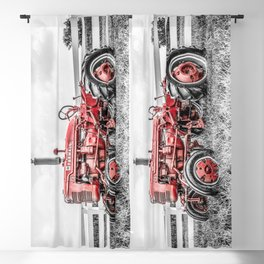 Selective Red Vintage Farmall A Antique Red Tractor Farming Nostalgia Farm Equipment  Blackout Curtain