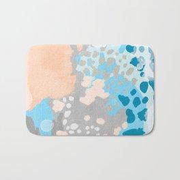 Freya - Painted minimal bright summer palette boho abstract decor minimalist Bath Mat