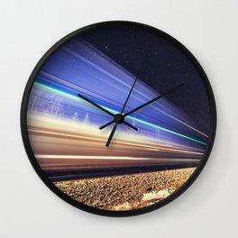Rails Northward Wall Clock