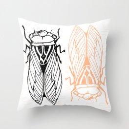 Cicadas on the Scribbly Gum Throw Pillow