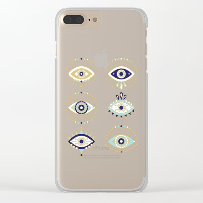 Evil Eye Collection Clear iPhone Case