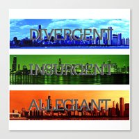 divergent Canvas Prints featuring Divergent by All Things M