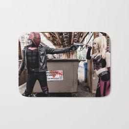 Harley Quinn Bridget & Red Hood Robfury Bath Mat