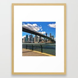 MONEY UNDER THE BRIDGE Framed Art Print