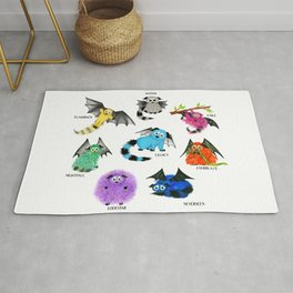 Eight Little Iggys Rug