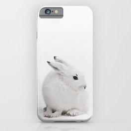 SNOW BUNNY  - ARCTIC HARE iPhone Case