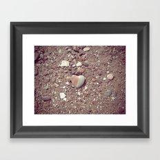 Heart on the Beach Framed Art Print
