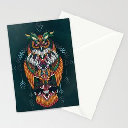 Wisdom Of The Owl King Stationery Cards