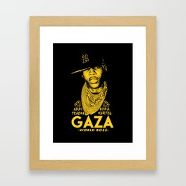 VYBZ KARTEL WORLD BOSS Framed Art Print