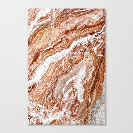 Brown Marble, Tiramisu Marble, Modern Marble Print, Luxury Geometric Art, Minimal Scandinavian Abstract Pattern Canvas Print