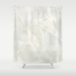 Cracked Crystal Marble Texture Shower Curtain